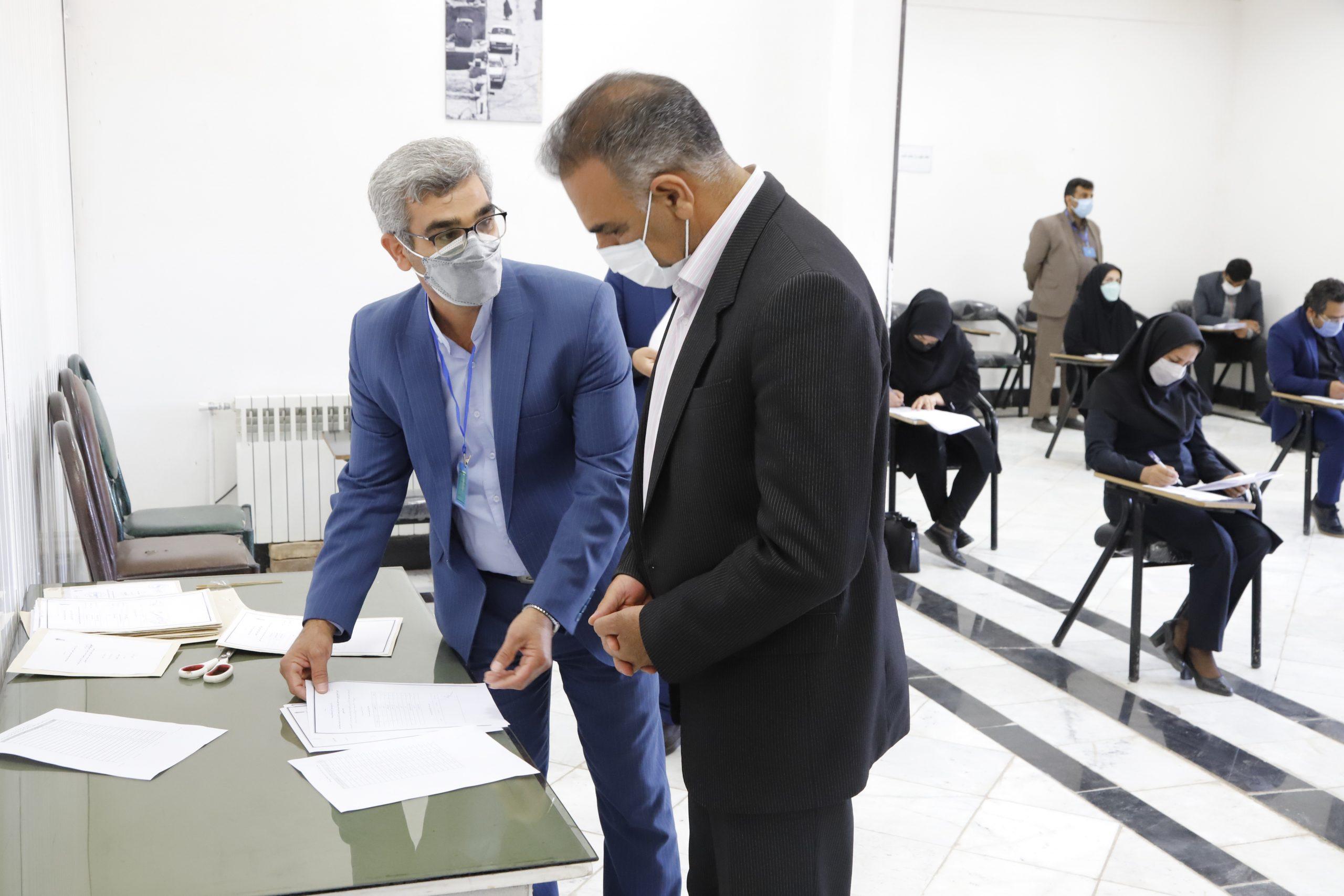 آزمون تبدیل وضعیت نیروهای شرکتی شاغل در شهرداری های استان برگزار شد