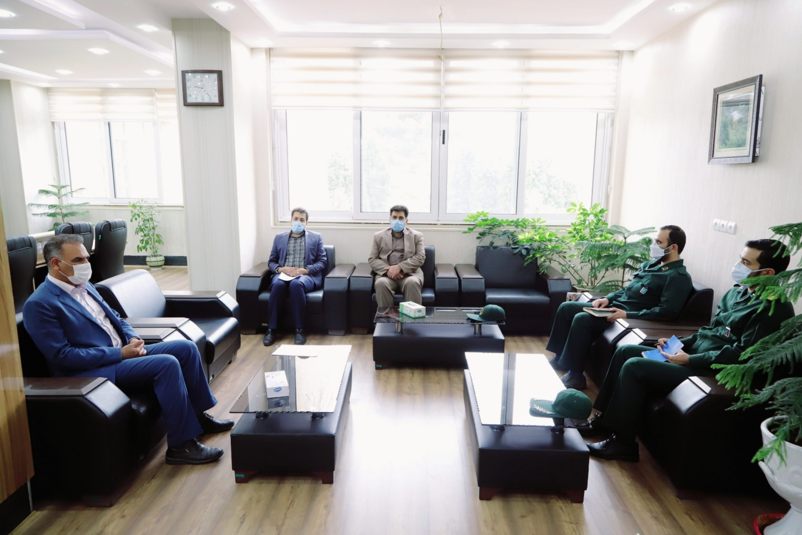 دیدار رئیس سازمان بسیج کارمندان استان و هیات همراه با شهردار بیرجند