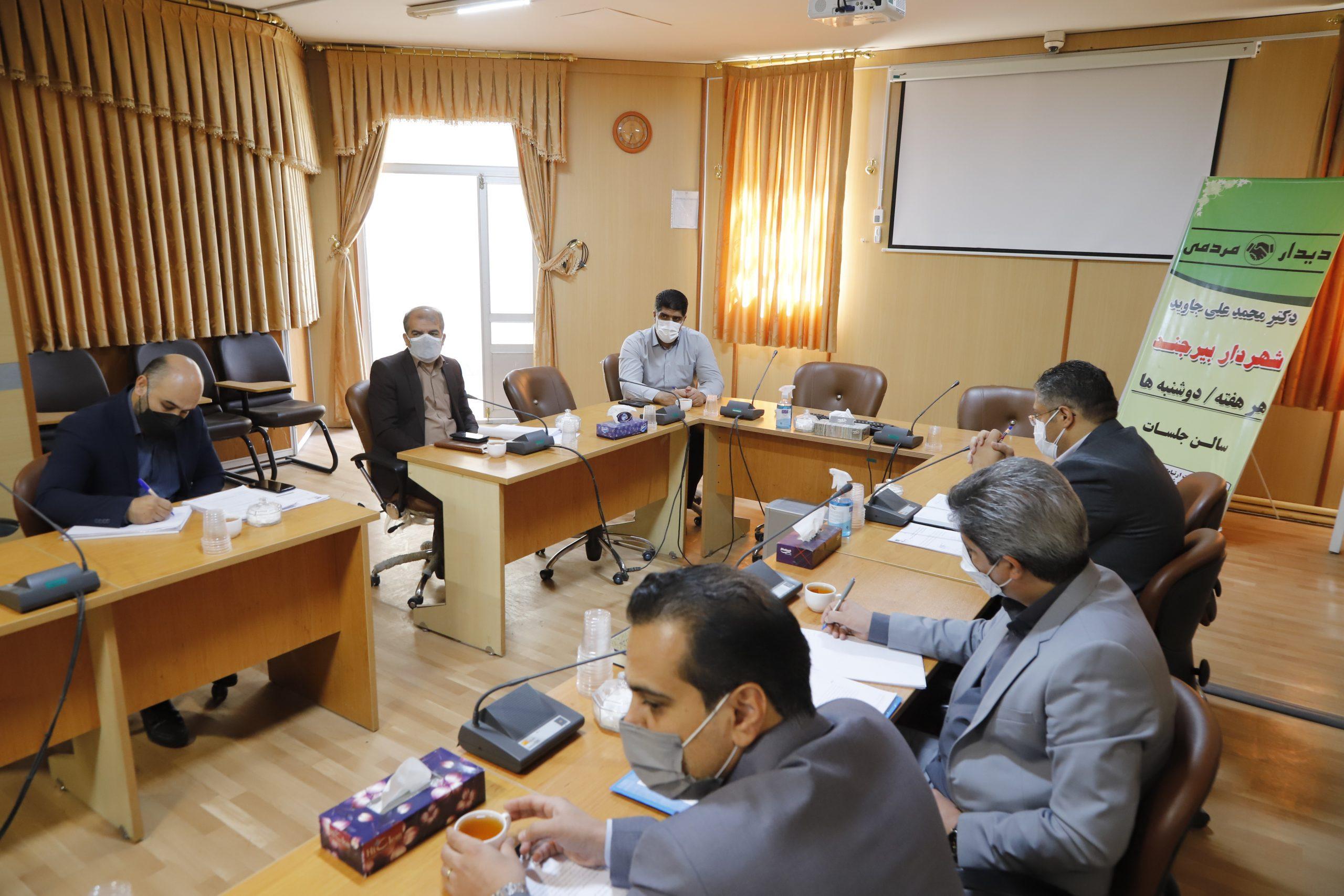 جلسه بررسی روند پیشرفت پروژه بوستان شهیداحمدی روشن مهرشهر